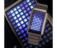 Электронные (бинарные) наручные часы Kelvin Silver