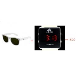 Очки Wayfarer + часы Adidas