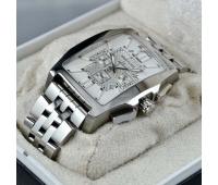 Часы breitling silver white