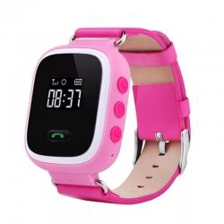 Детские часы GPS Q60 розовые
