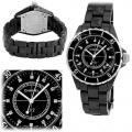копии швейцарских наручных часов chanel j12 черные