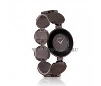 Женские оригинальные наручные часы на браслете с темным напылением  Gucci