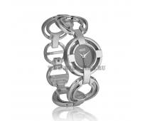 Модные женские наручные часы Gucci под серебро