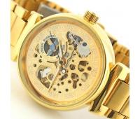 Часы механические  с автоподзаводом браслет и корпус под золото