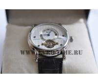 Механические мужские часы с турбионом  белый циферблат