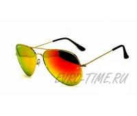 Солнечные очки Авиаторы с оранжевым переливом