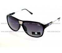 Черные металлические солнцезащитные очки BMW