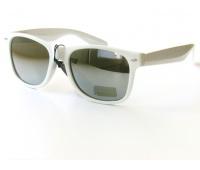 Белые зеркалные очки Wayfarer