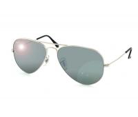 Очки Рay Вan Aviator. линзы черные оправа серебро