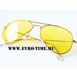Очки солнцезащитные  Рай Бан с желтыми линзами