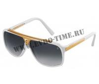 Солнечные очки LV с белой оправой