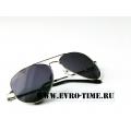 Солнечные очки Aviator с черными линзами