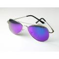 Солнцезащитные очки авиаторы Aviator с фиолетовыми линзами