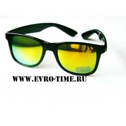 Солнцезащитные очки черные вайфаер wifier с зеркальными стеклами