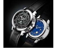 Часы patek philippe sky moon silver black