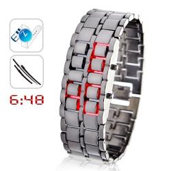 Электронные наручные часы Э-01 Iron Samuray Red